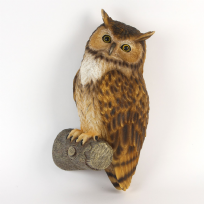 Owl on Tree Trunk ~ Large Wall Hanging Animal Ornament